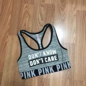 Pink Victoria's Secret sports top